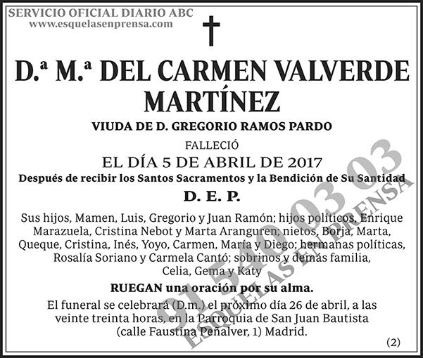 M.ª del Carmen Valverde Martínez